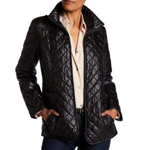 NWT Ellen Tracy Quilted Puffer Black Jacket S